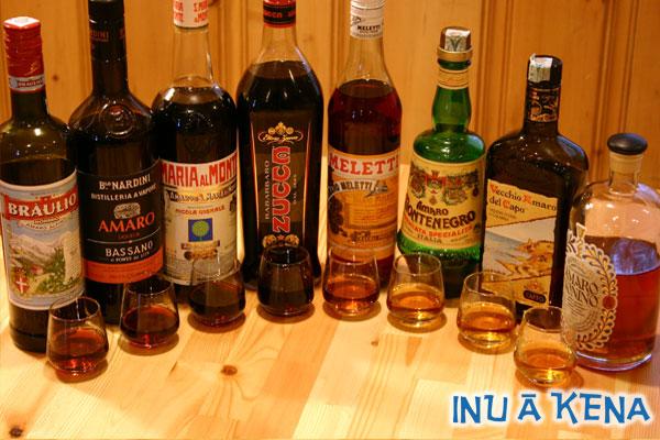 Italian Amari Bottles