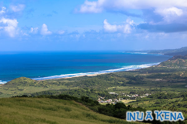 A view of the Barbados coast from Cherry Tree Hill