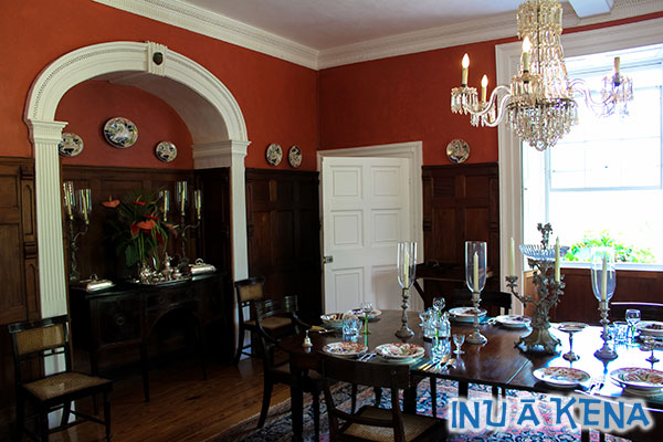 The dining room at Saint Nicholas Abbey