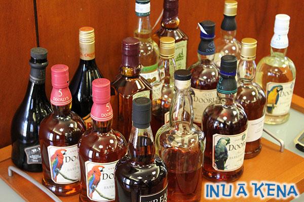 Foursquare rum tasting room selections