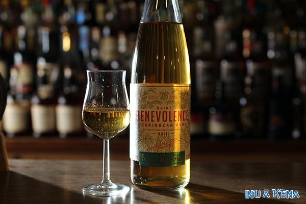 Saint Benevolence Rum and tasting glass
