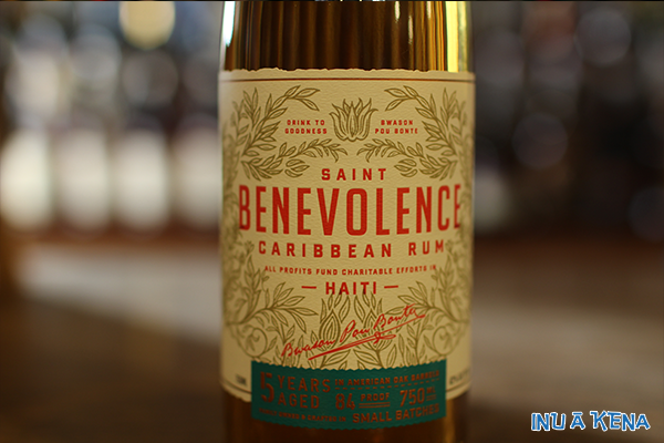 Saint Benevolence Rum front label