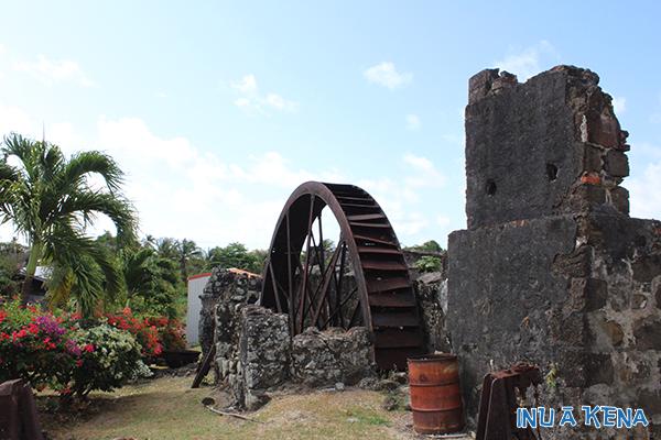 Water wheel at Westerhall Estate, Grenada, West Indies