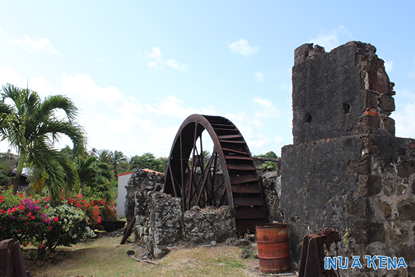 Water wheel at Westerhall Estate, Grenada, West Indies